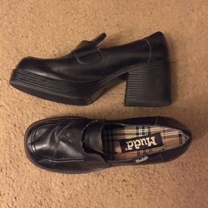 Mudd Vintage Platform Chunky Heel Shoes